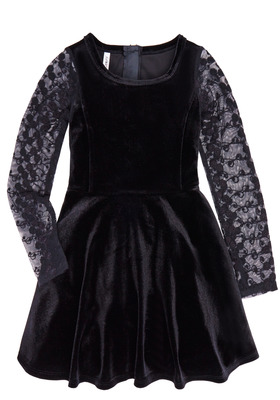 Holiday Velvet & Lace Dress