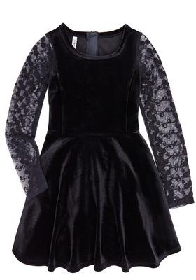 Holiday Velvet & Lace Dress