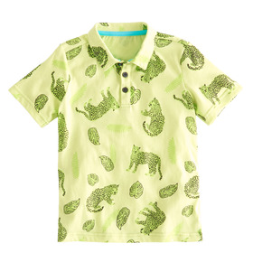 Jaguar Jungle Print Polo