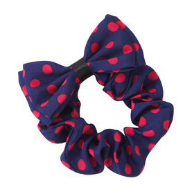 Polka Dot Bow Scrunchie