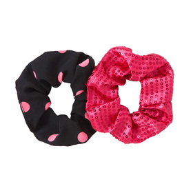 2 Pack Sparkle Dot Scrunchie