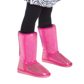 Pink Sequin Fuzzies