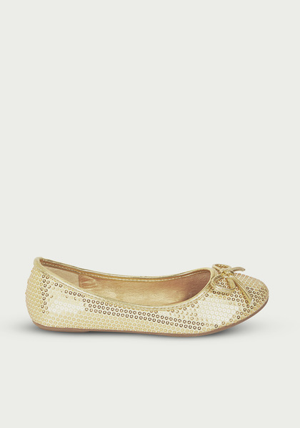 Gold Sequin Flat
