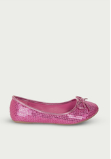 Pink Sequin Flat