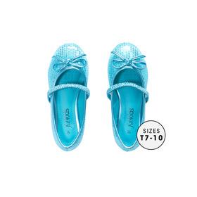 Blue Sequin Flat