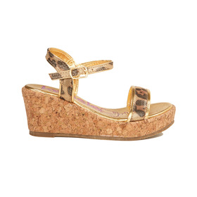 Animal Print Wedge Sandal