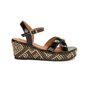 Tribal Print Wedge Sandal