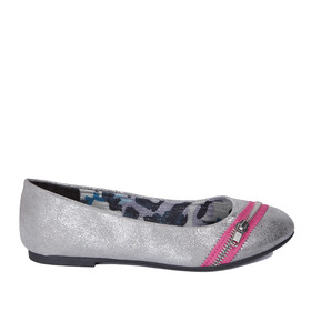 Zipper Metallic Flat