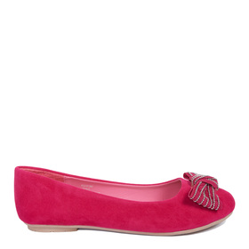 Pink Bow Flat