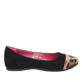 Leopard Toe Flat