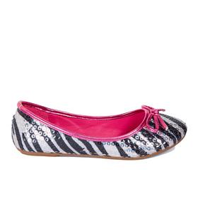 Zebra Sequin Flat