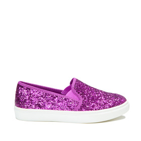 Purple Glitter Slip On