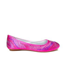 Pink Studded Flat