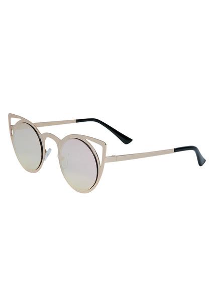 Metallic Cat Eye Sunglasses