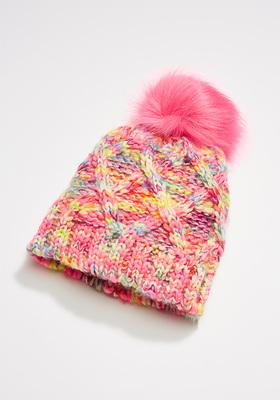 Rainbow Knit Beanie