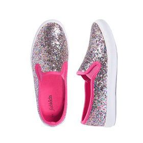 Multi-Color Glitter Slip On