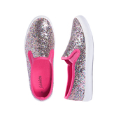 Multi Glitter Slip On