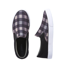 Plaid Canvas Slip On