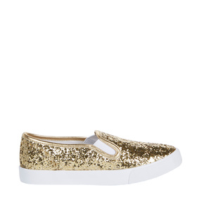 Gold Glitter Slip On