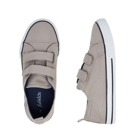 Grey Two-Strap Sneaker