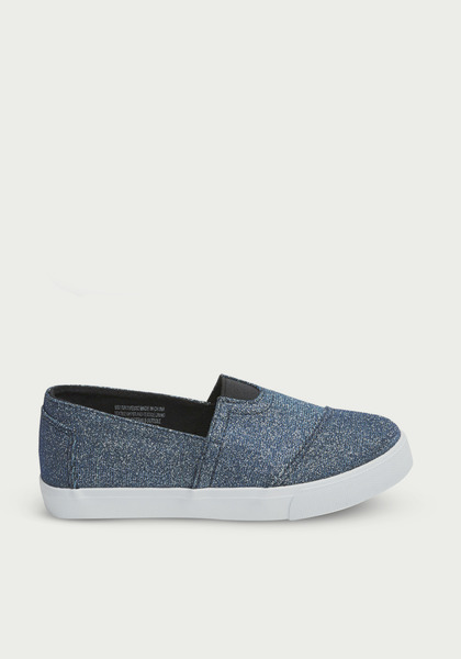 Metallic Canvas Slip On