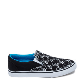 Skull Canvas Slip On
