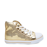Gold Sequin High Top Sneaker