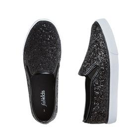 Black Glitter Slip On