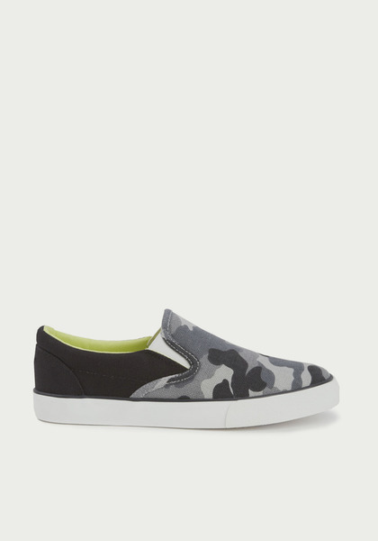 Grey Camo Slip On