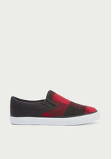 Red Buffalo Check Slip On