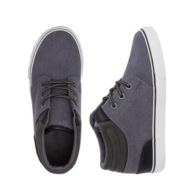 Grey Canvas Mid Lace Up