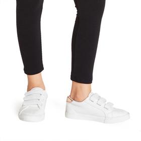 White Multi-Strap Sneaker