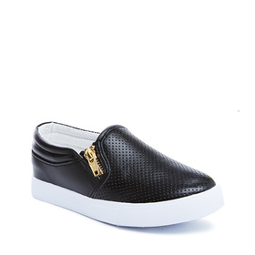 Perforated Zipper Slip On