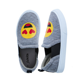 FabKids Shoes Side Elastic Slip On Girls Gray Size T7 Our cute and comfy slip on sneakers will add a little fab to her step! Featuring side elastic for easy slip on and go.