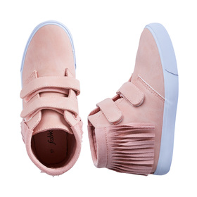 FabKids Shoes Multi-Strap Fringe High Top Girls Pink Size 01 These high top fringe sneakers will complete your little fashionista's favorite outfit. Adjustable straps for easy slip on and go.
