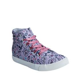 Doodle Print High Top Sneaker