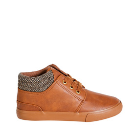 Faux Leather Mid Lace Up