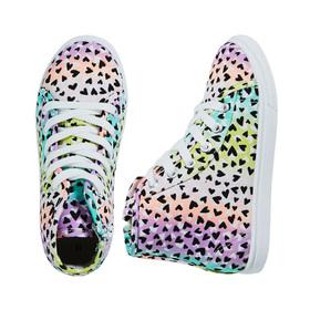 Rainbow Print High Top Sneaker