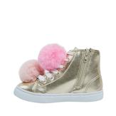 Pom Pom High Top Sneaker