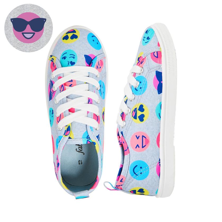 Emoji Lace Up Sneaker