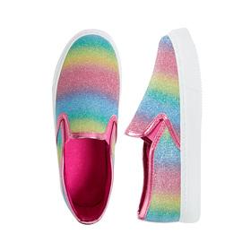 Rainbow Glitter Slip On