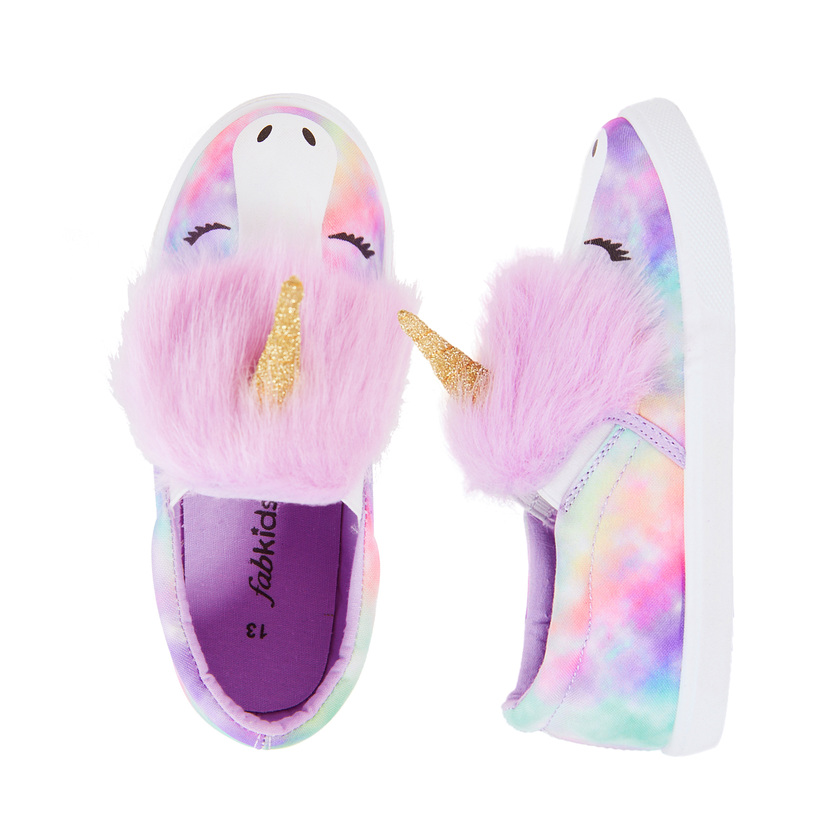 Unicorn Fur Slip On Sneaker - FabKids
