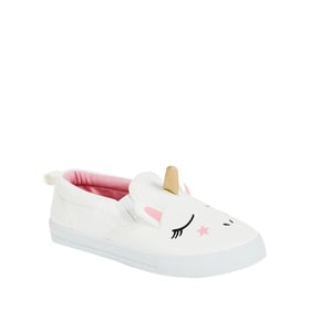 Faux Leather Unicorn Slip On