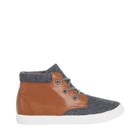 Tweed Pieced High Top Sneaker