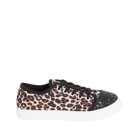 Glitter Toe Leopard Sneaker