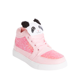 High Top Panda Glitter Sneaker