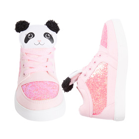High Top Panda Glitter Sneaker