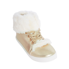 Faux Fur High Top Sneaker