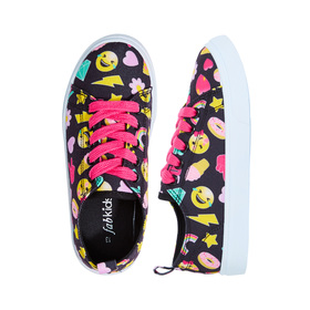 Emoji Fun Lace Up Sneaker