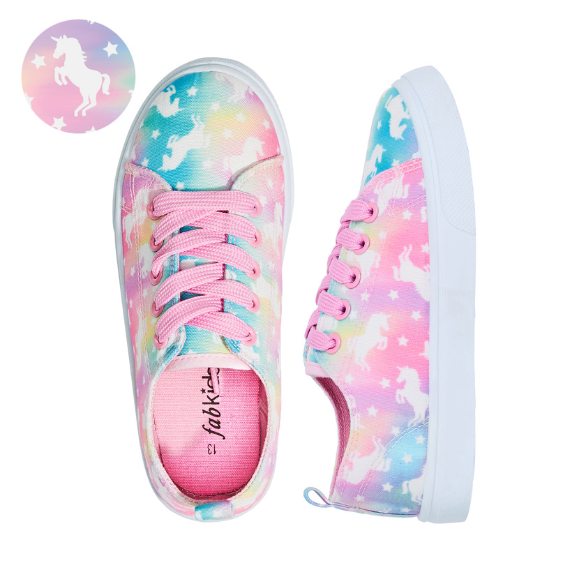 Marble Unicorn Lace Up Sneaker - FabKids